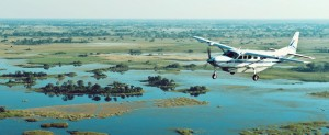 Capture Africa Tours air charter service into Pom Pom Camp, Okavango Delta.